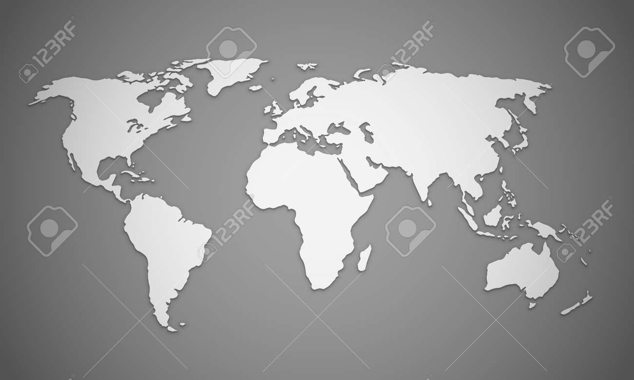 World map outlines with shadow effects eps10 vector image royalty vector world map outlines with shadow effects eps10 vector image gumiabroncs Gallery