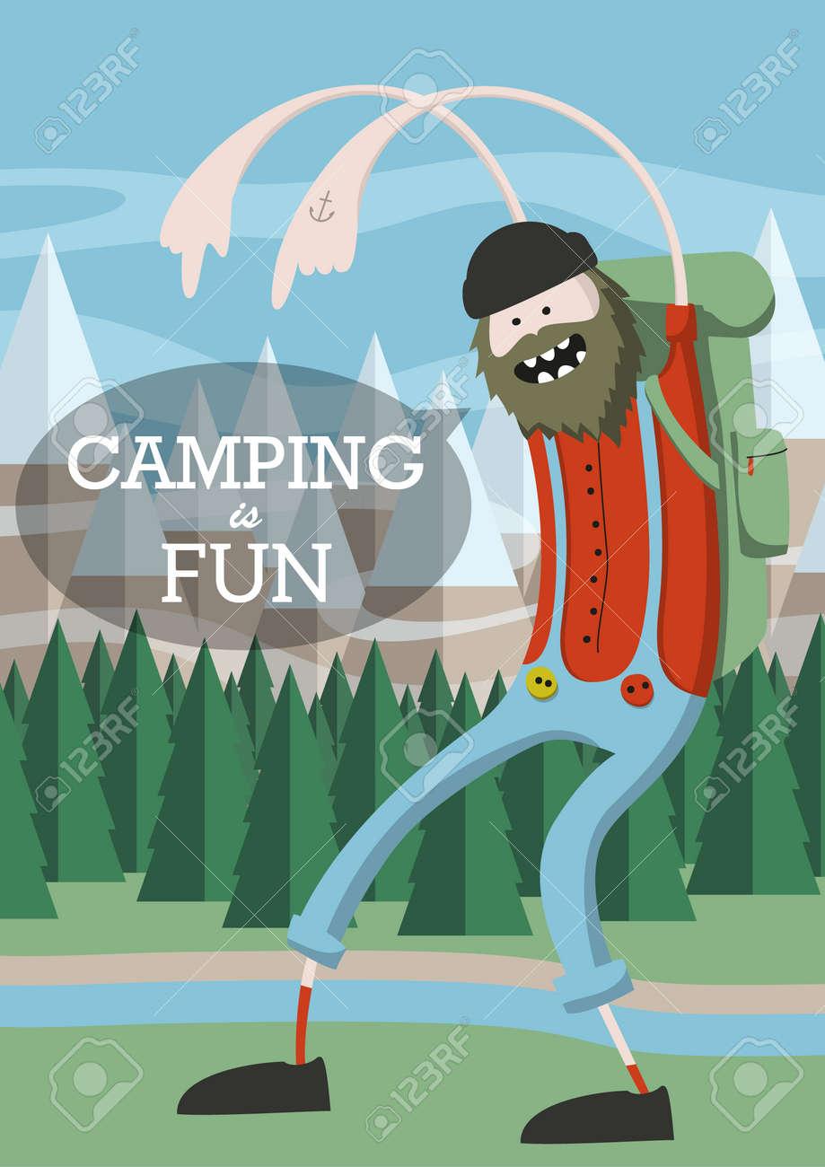 camping is fun