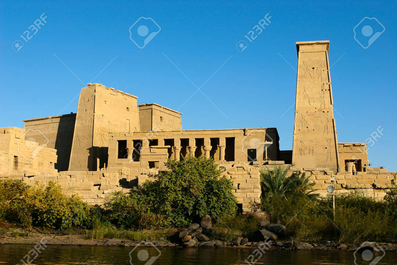 Isis Temple at Philae Island, Egypt Stock Photo - 5258334
