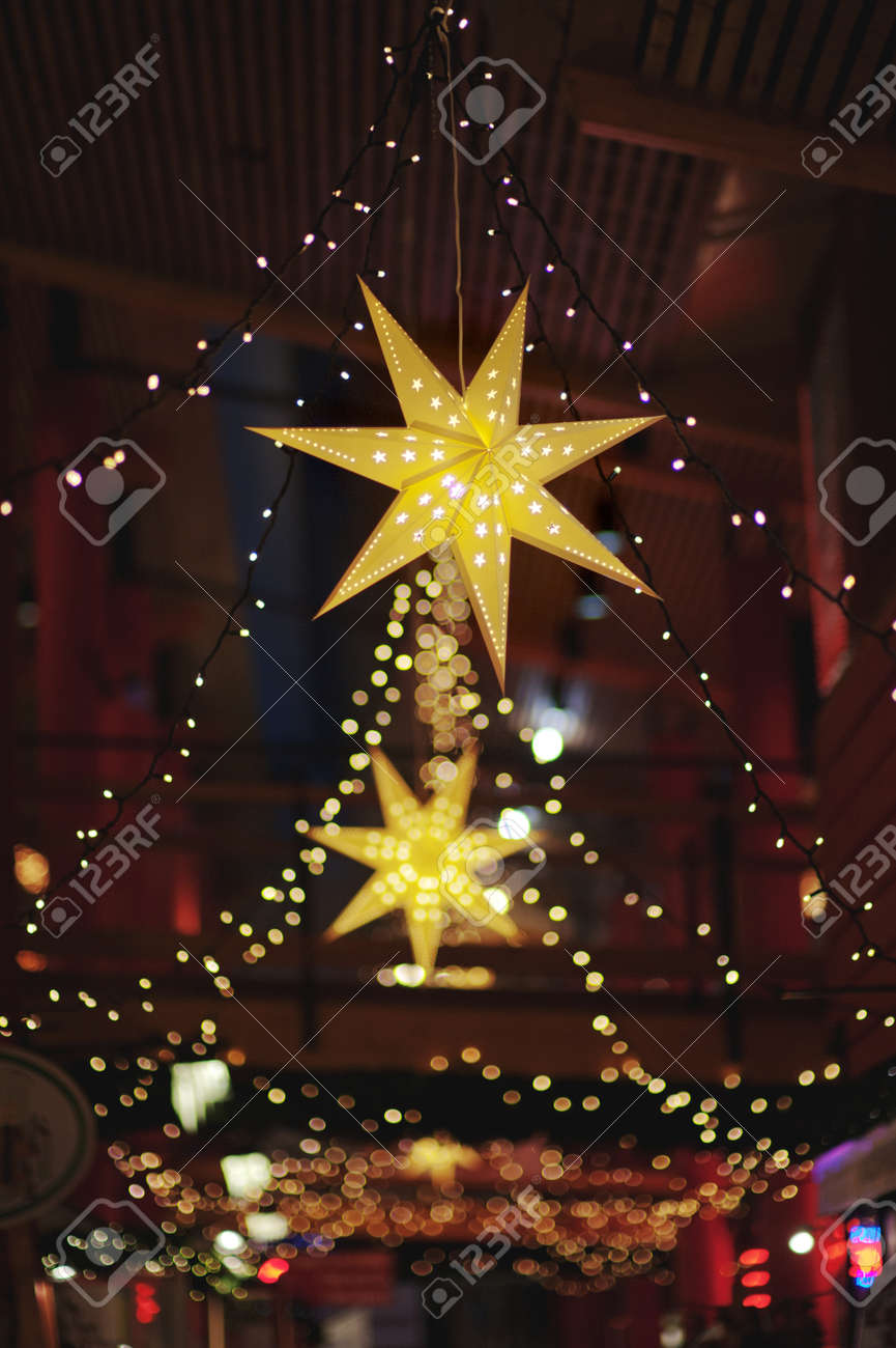 Beautiful Christmas Market Decorations Christmas Stars At A