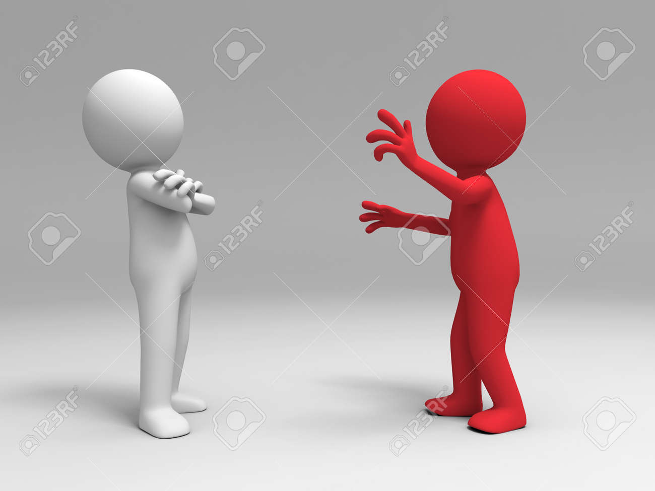 A man in explain to another person Stock Photo - 15405396