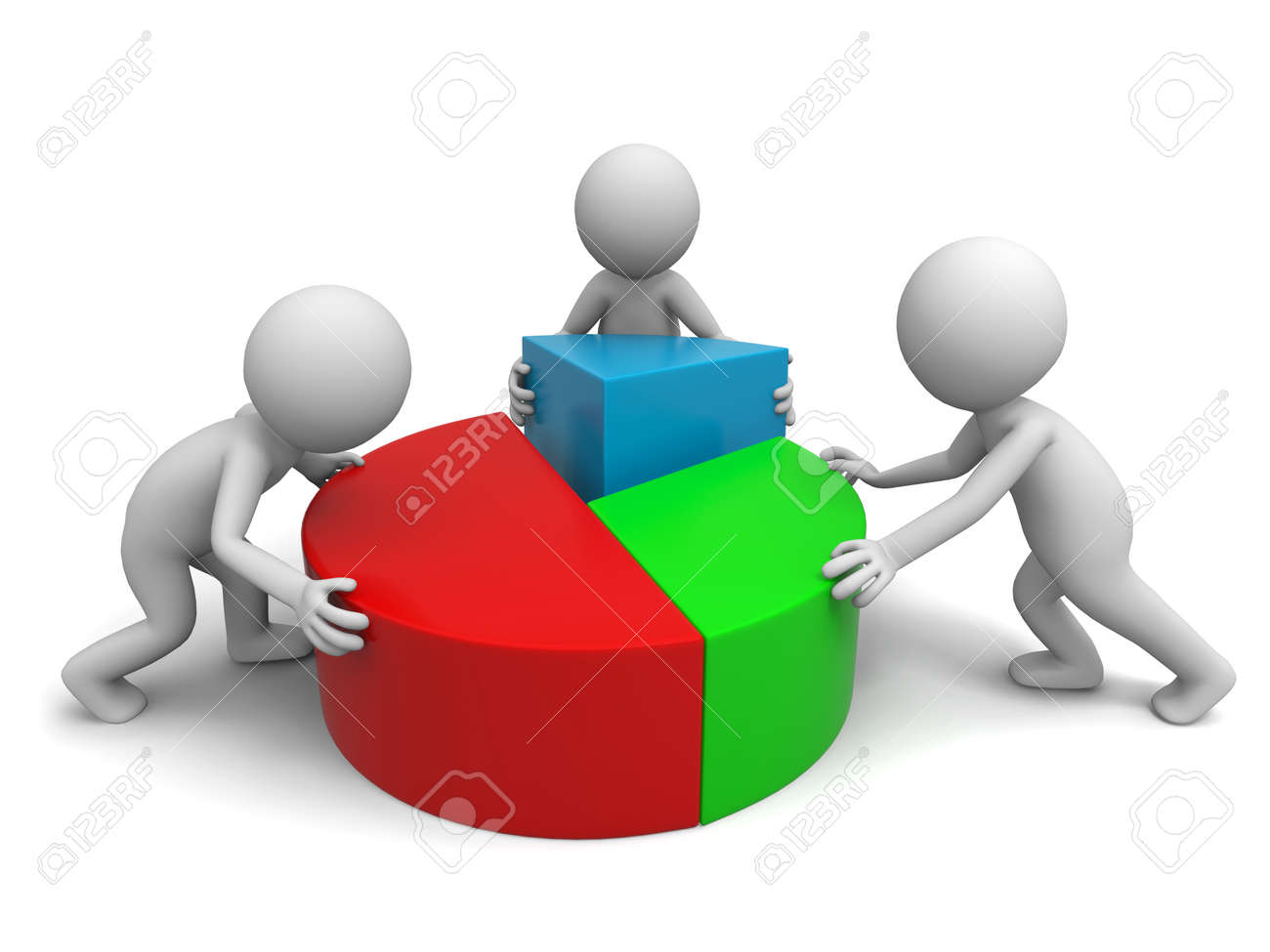 three men are put together the chart stock photo picture and