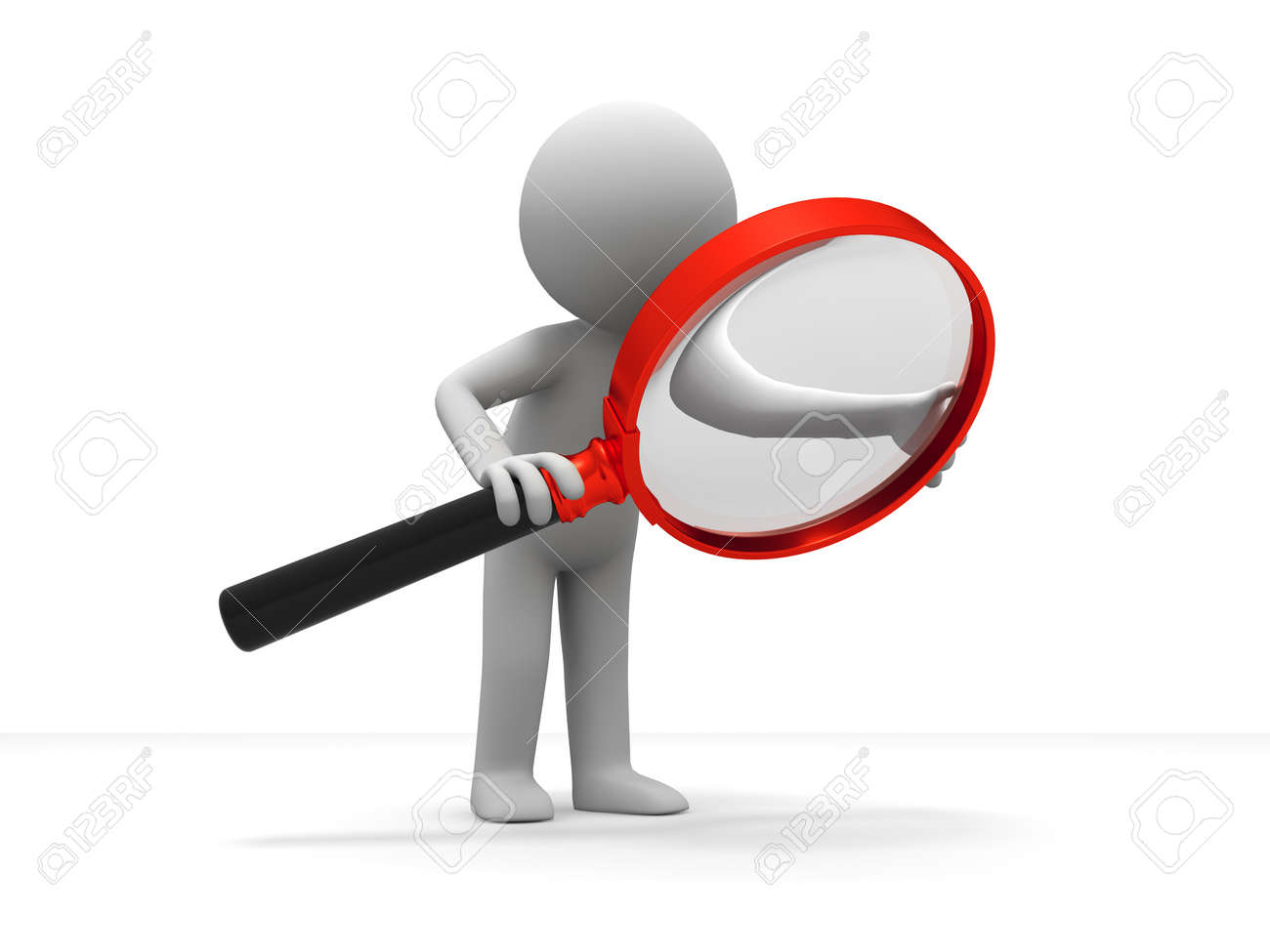 A Person Is Using The Magnifying Glass Stock Photo, Picture And Royalty  Free Image. Image 15405016.