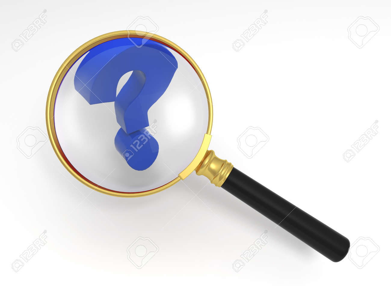 3d person with magnifying glass and question mark stock images image - Magnifying Glass And Question Mark Stock Photo 15405008