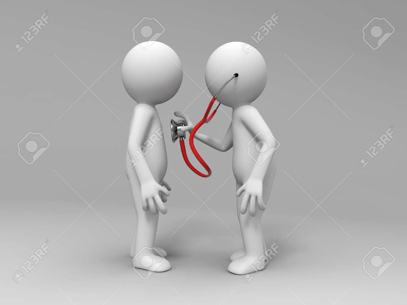 Un homme de consulter un médecin Banque d'images - 15390320
