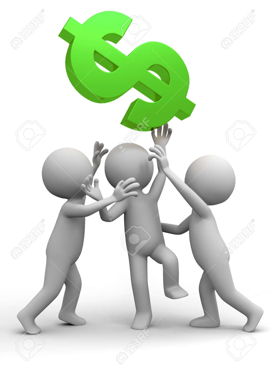 Three people are fighting for dollars stock photo picture and three people are fighting for dollars stock photo 15390039 buycottarizona Gallery