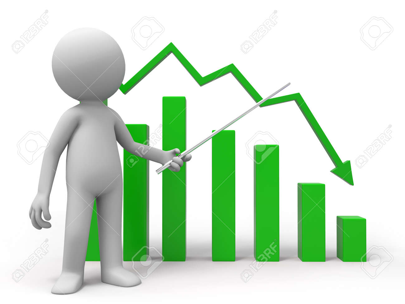 A man is explaining the chart Stock Photo - 15389499