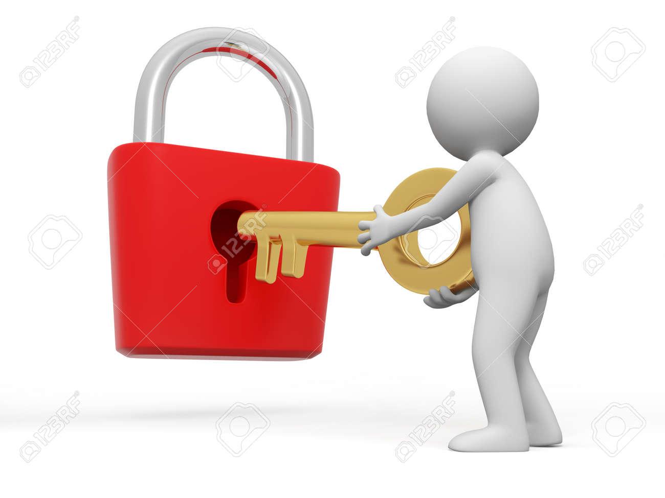 door lock and key cartoon. Lock And Key A People Open With Stock Photo - 15431769 Door Cartoon C