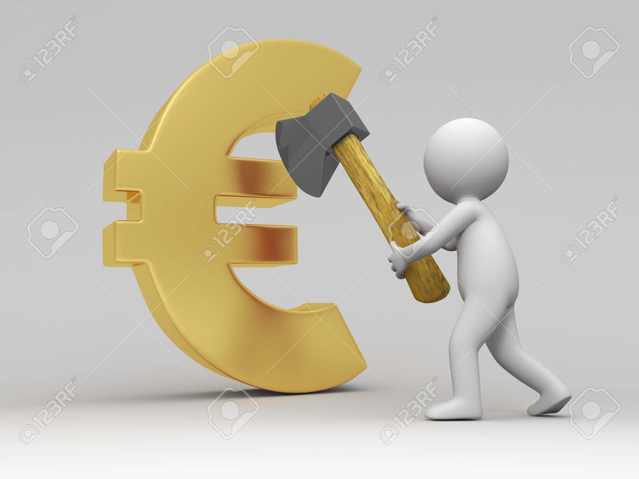 Euro symbol a people cut a euro symbol with a axe stock photo euro symbol a people cut a euro symbol with a axe stock photo 15431787 buycottarizona Choice Image