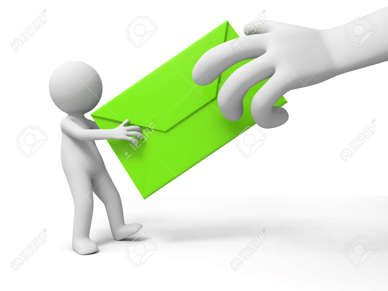 letter A people is holding a letter Stock Photo - 15431407