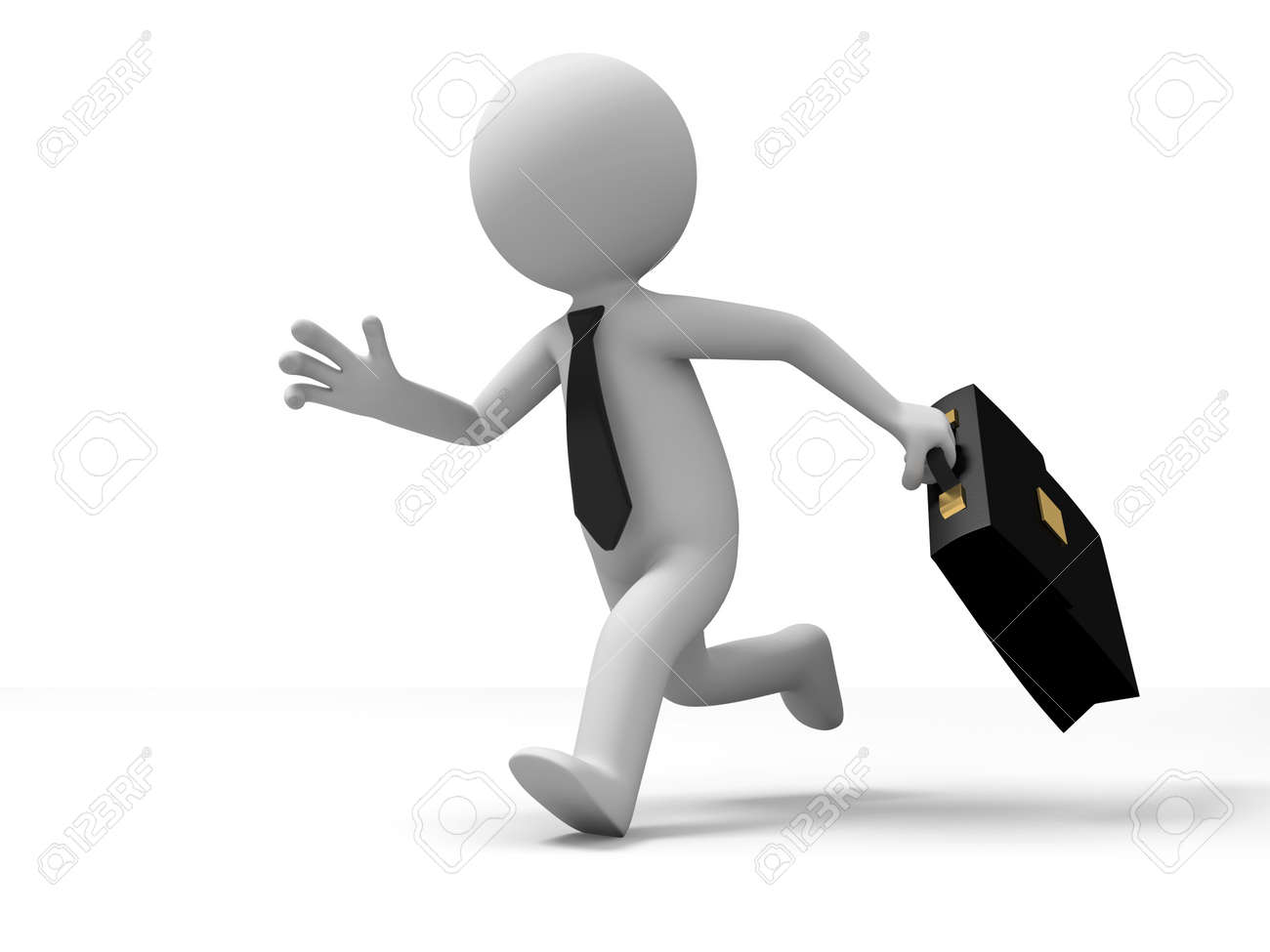 Businessman run A businessman in the running Stock Photo - 15430660