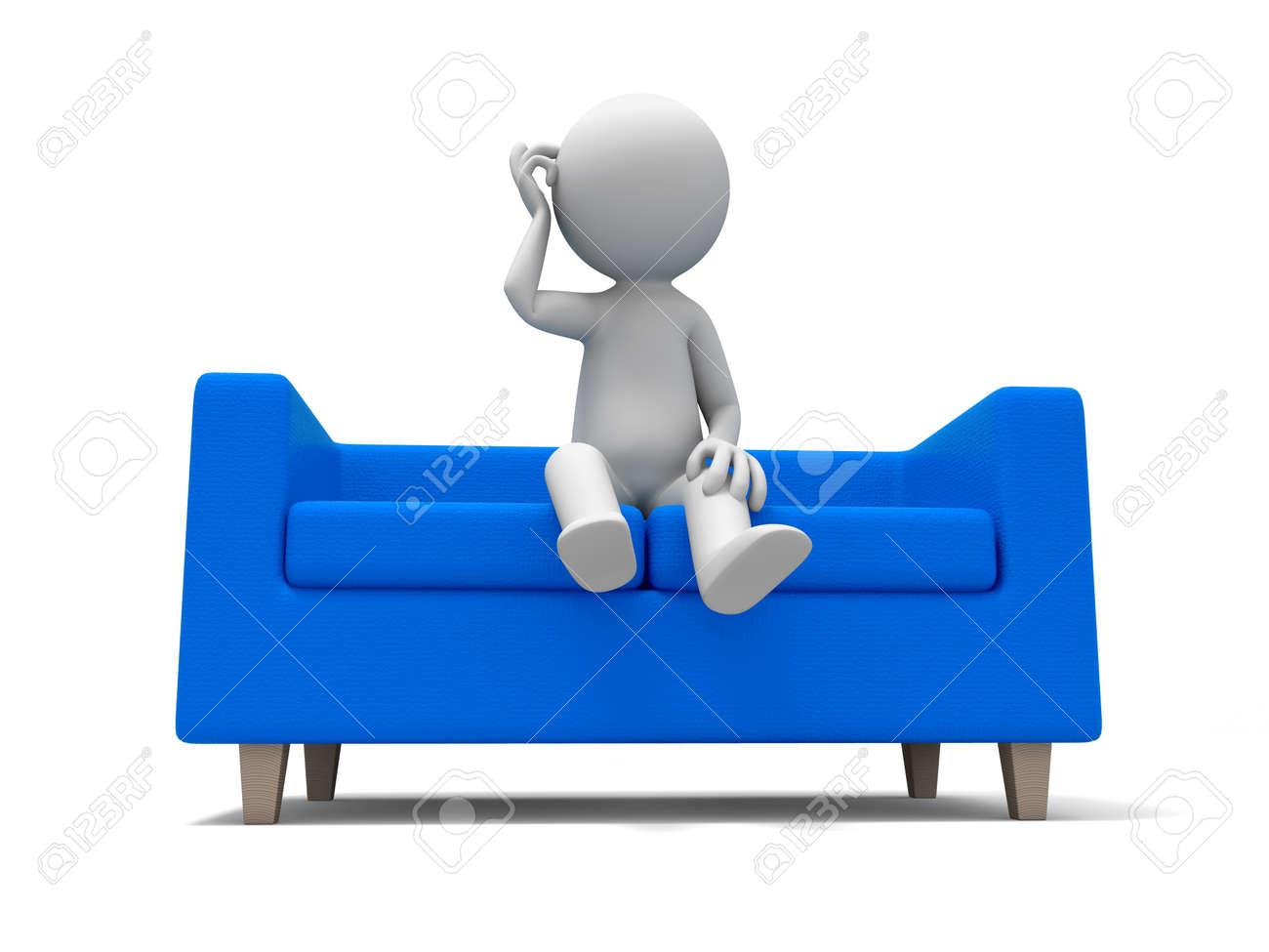 Sofa  a people sitting on  the sofa Stock Photo - 15429672