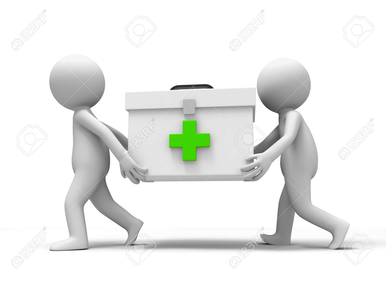 Medicine cabinet  raid a people running with a Medicine cabinet Stock Photo - 15429582