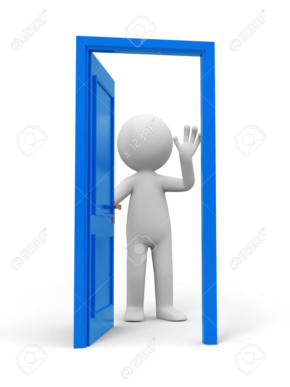 Door people and a opened door Stock Photo - 15457715  sc 1 st  123RF Stock Photos & Door People And A Opened Door Stock Photo Picture And Royalty ... pezcame.com