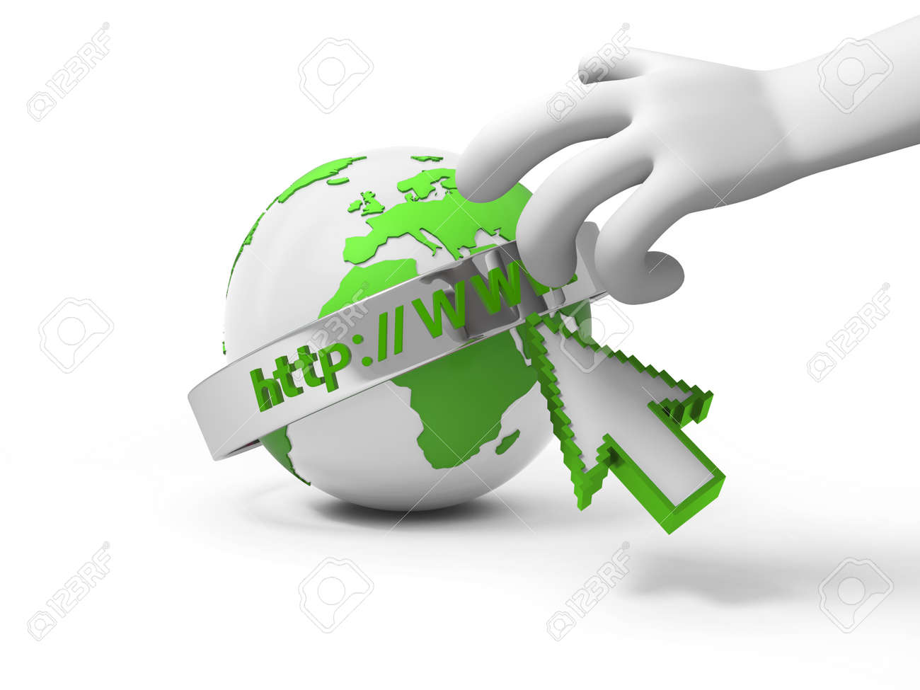 A 3d hand reaching the internet model Stock Photo - 18910141