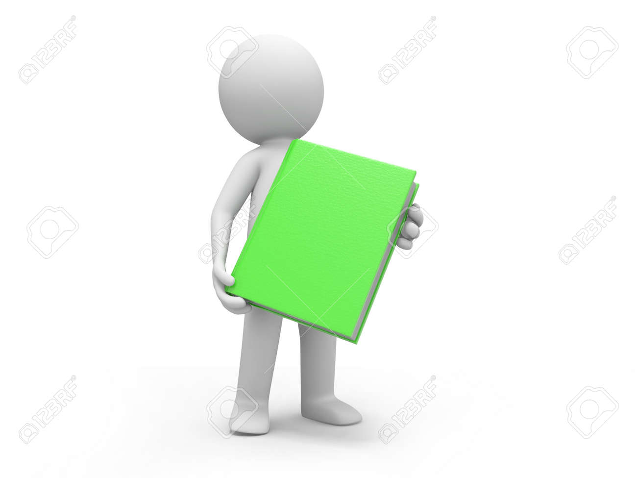 A 3d man carrying a red book Stock Photo - 19156855
