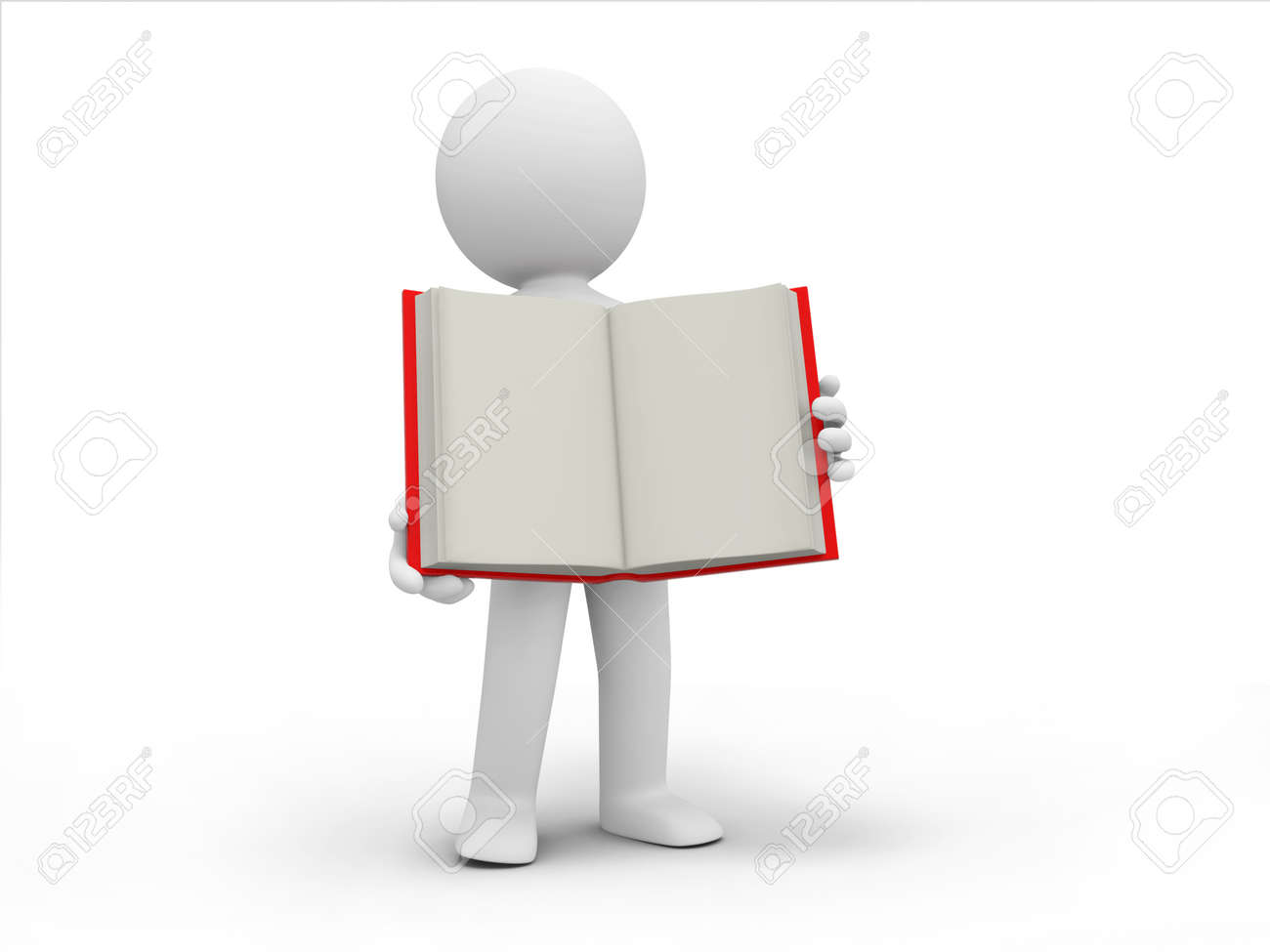 A 3d person carrying an opened book Stock Photo - 19228667