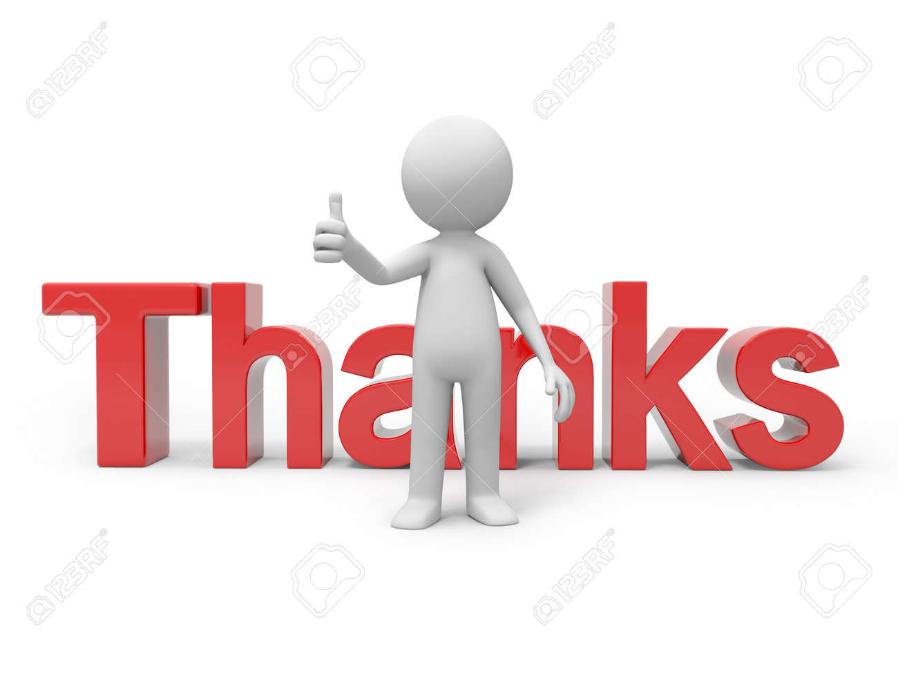 thanks word stock photos pictures royalty thanks word thanks word 3d man person human standing back to word thanks stock photo