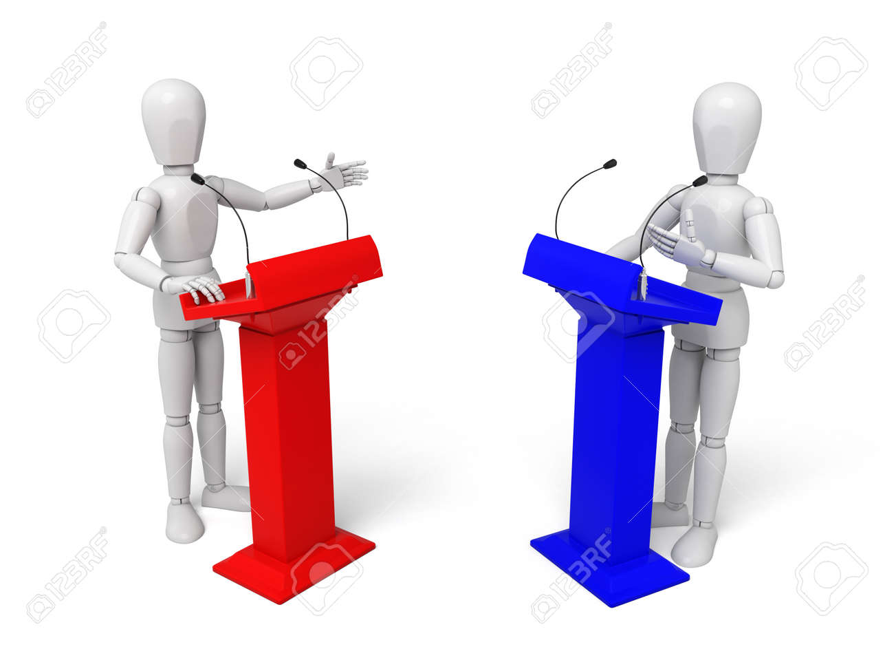 3d people debate 3d image isolated white background stock photo