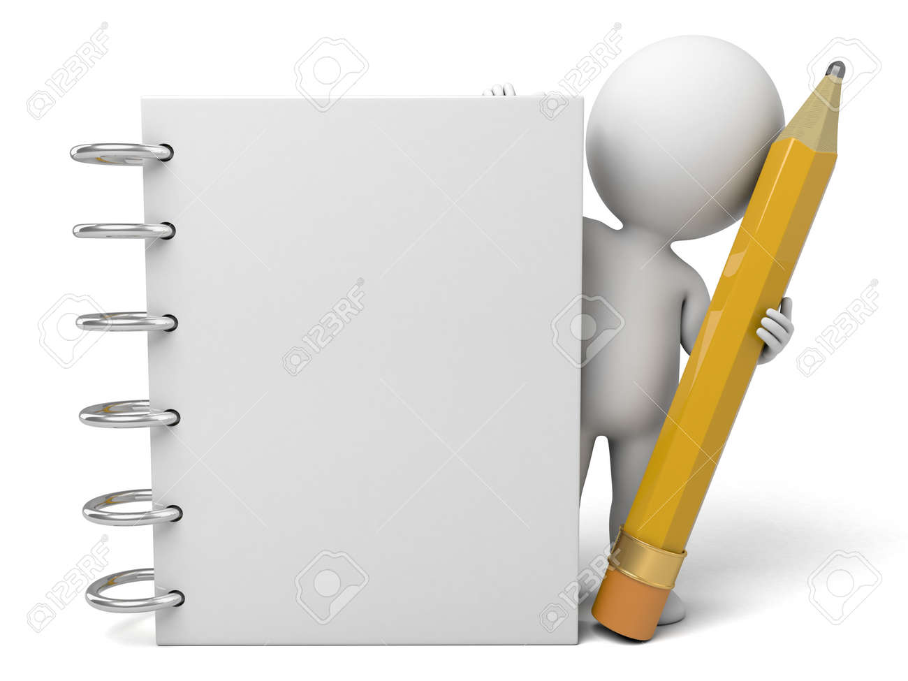 3d people with a notebook - 42548338