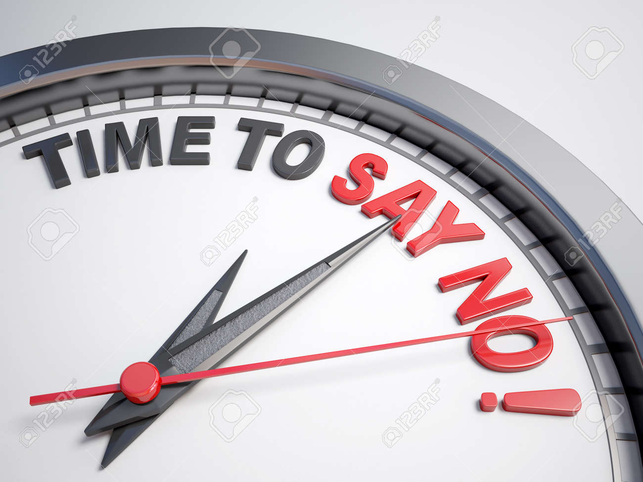 Clock with words time to say no - 43966200
