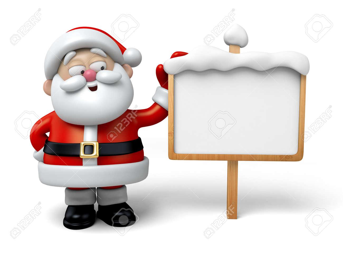 The Santa Claus and a billboard - 47549419