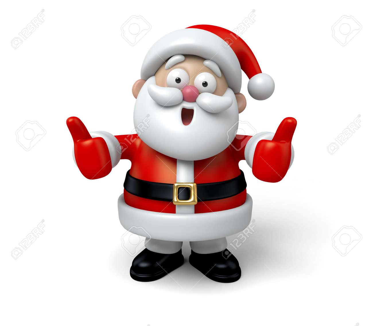 Santa with thumbs up - 47555867