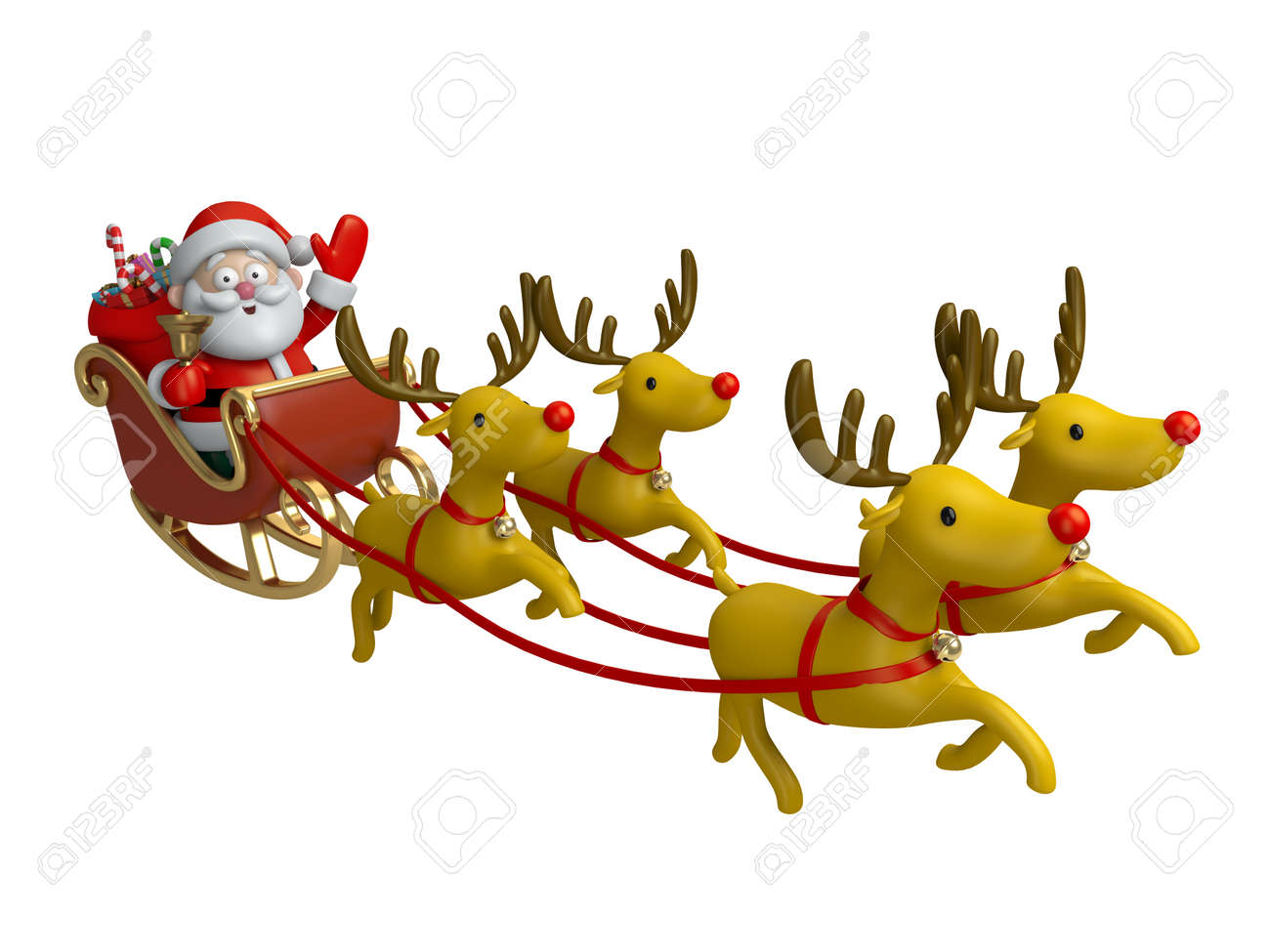 santa claus in his sleigh stock photo picture and royalty free