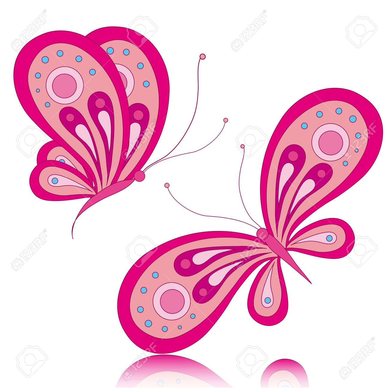 Pink butterfly vector background hd wallpapers pink butterfly vector - Butterfly Butterflies Vector Stock Vector 17303707