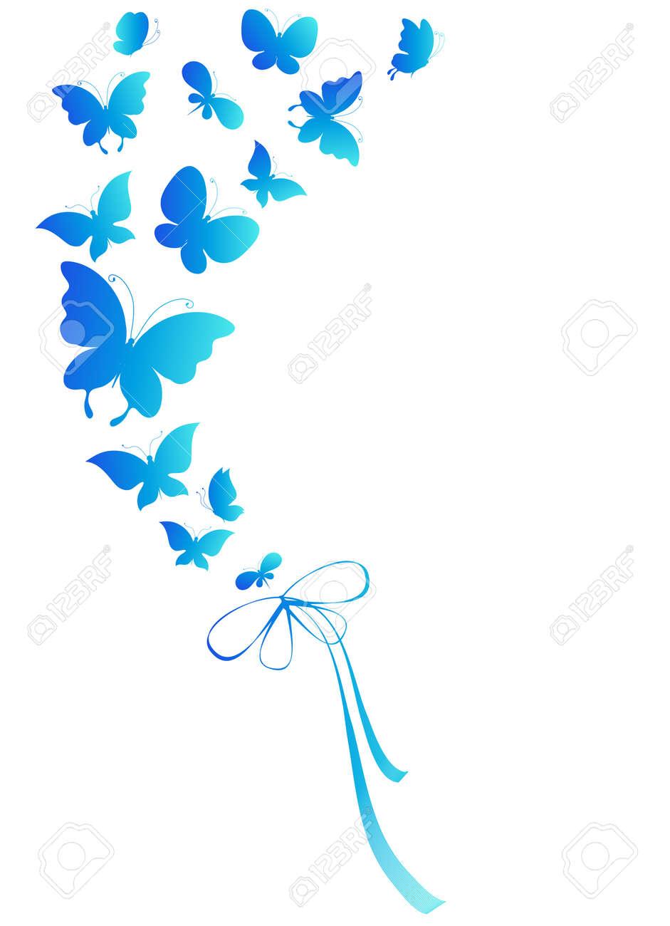 butterflies, vector Stock Vector - 17820269