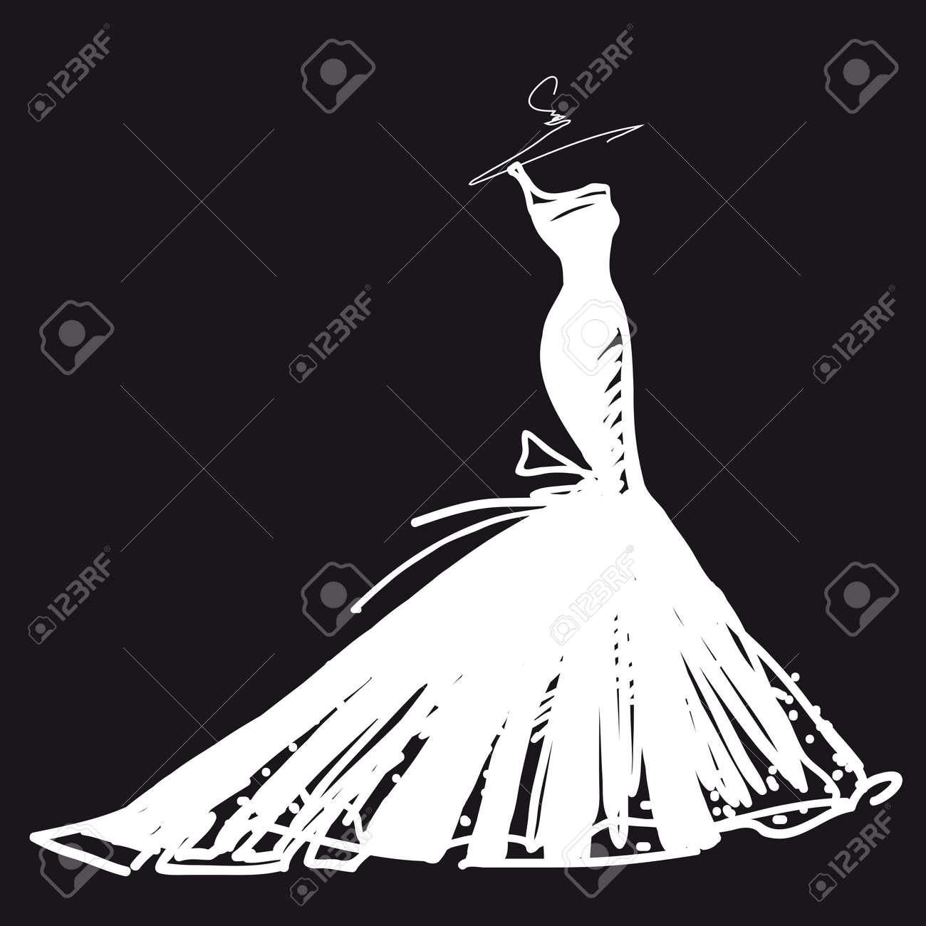 wedding dress vector Stock Vector - 18093041