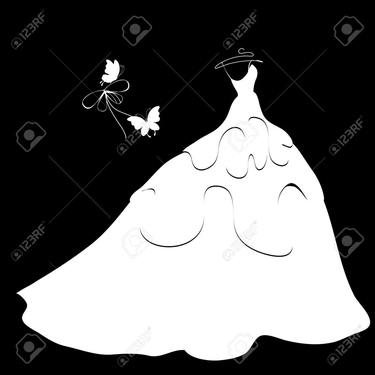 wedding dress vector Stock Vector - 19756733