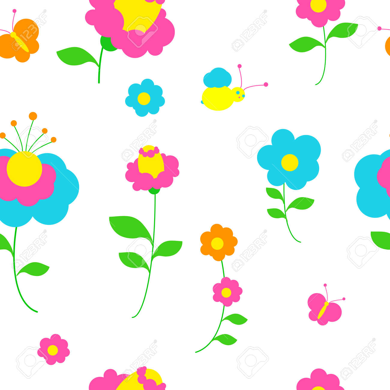 flowers pattern vector royalty free cliparts vectors and stock rh 123rf com flower watercolor vector pattern vector tropical flower pattern