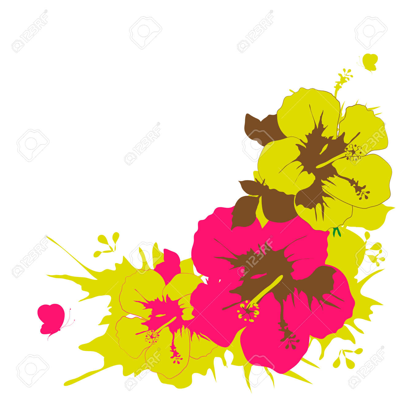 flowers card vector Stock Vector - 20670526