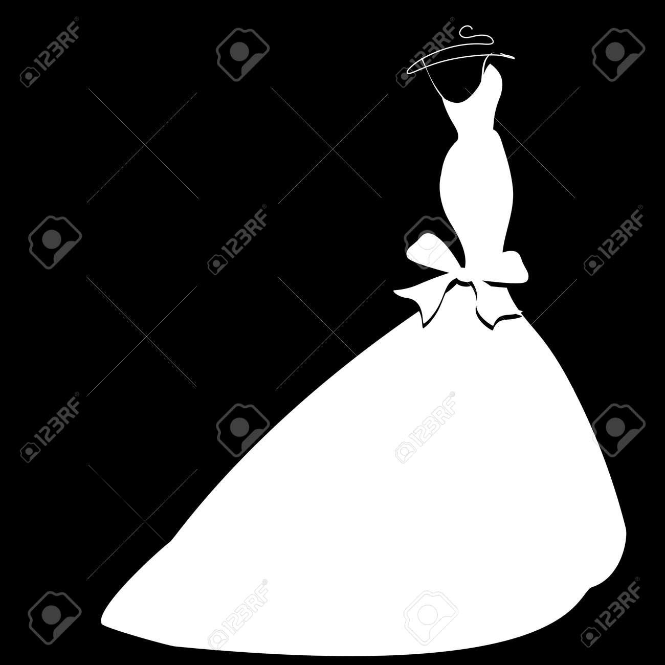 wedding dress Stock Vector - 23322743