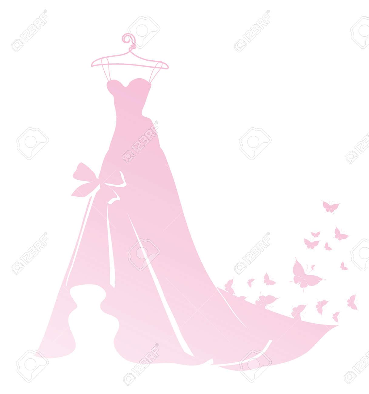 Vestido, Diseño De La Boda Ilustraciones Vectoriales, Clip Art ...