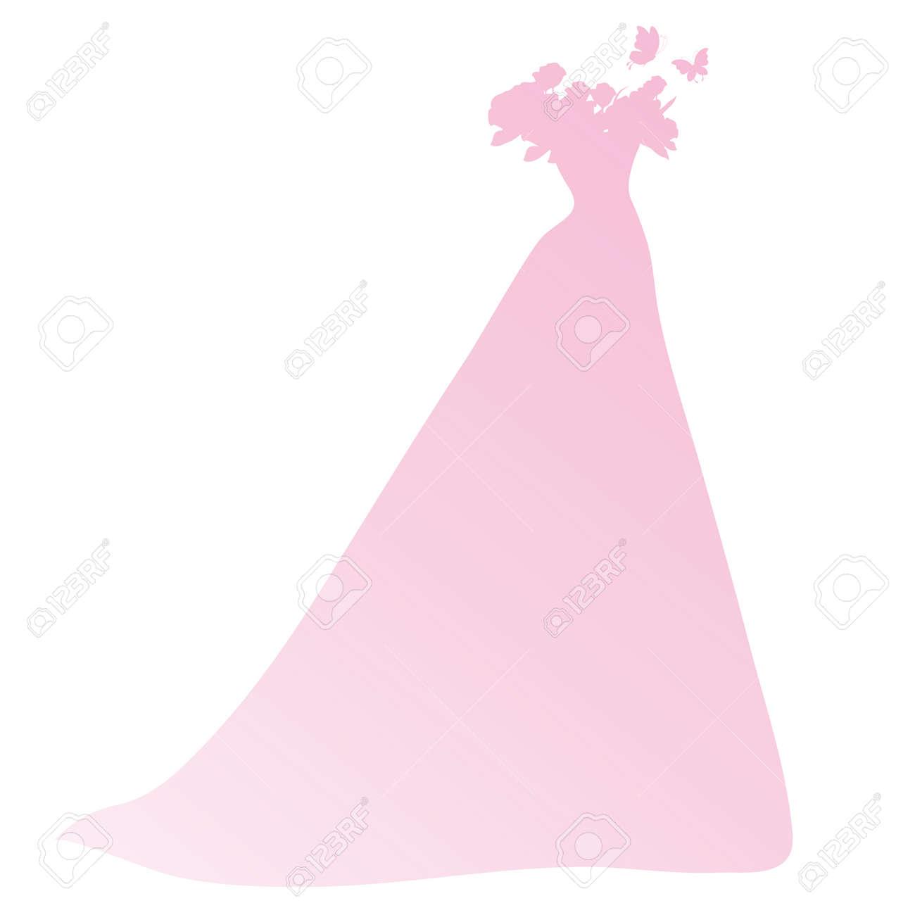 Lujoso Vestido De Novia Animado Ilustración - Colección de Vestidos ...