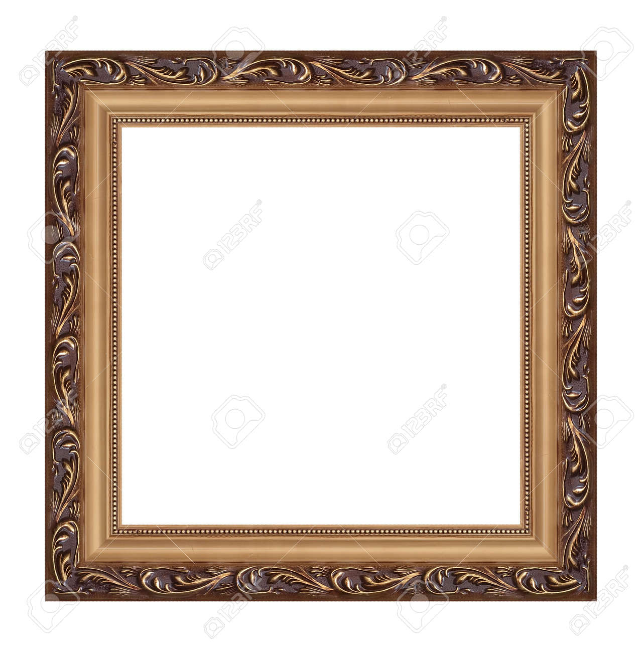 Old Frame On A White Background Stock Photo, Picture And Royalty ...