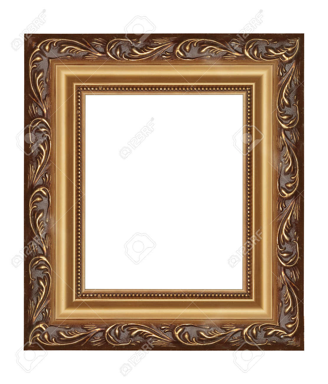 Classy Golden Frame (from My Frames Collection) Stock Photo, Picture ...