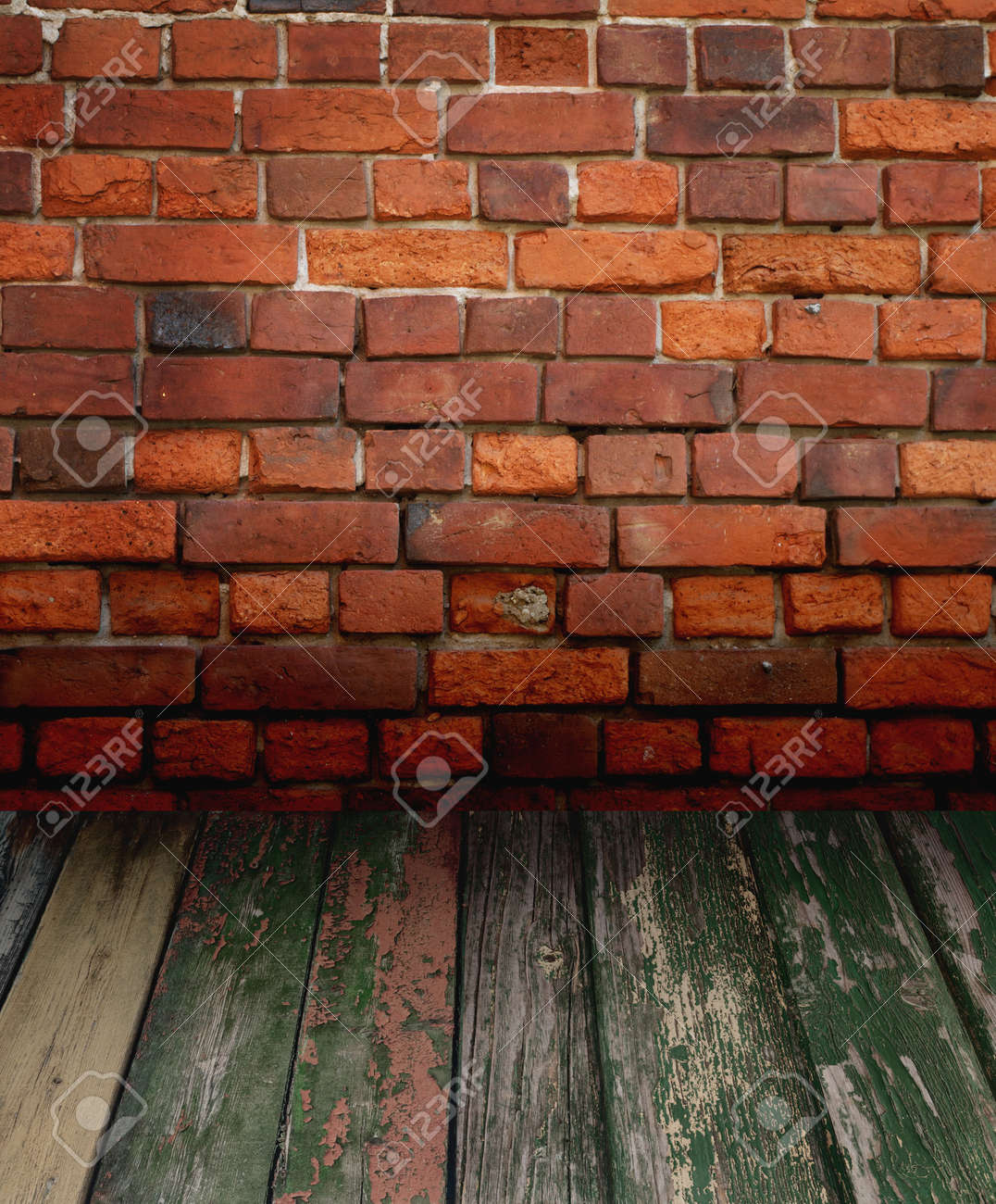 old interior with brick wall Stock Photo - 8543244