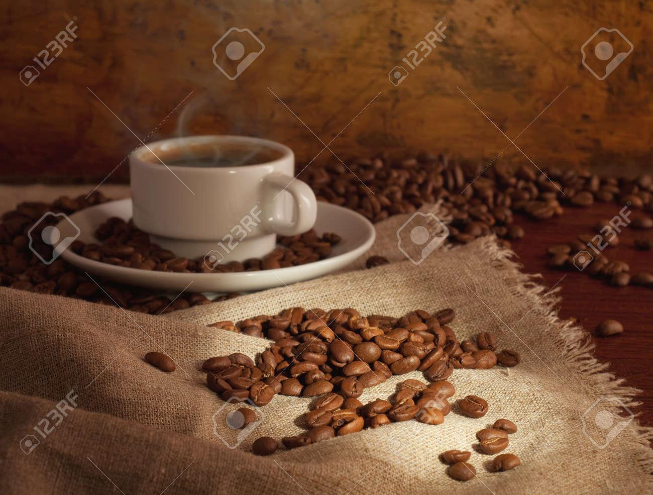 hot coffee Stock Photo - 8543211