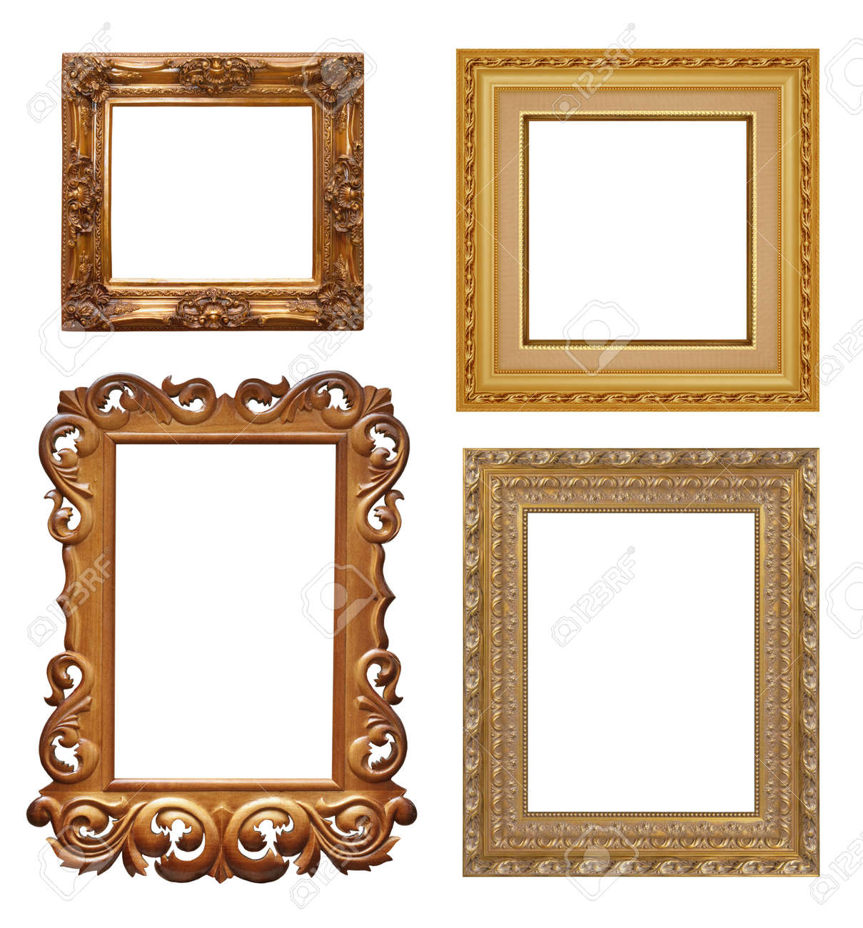 Four Antique Picture Frames. High Resolution Stock Photo, Picture ...