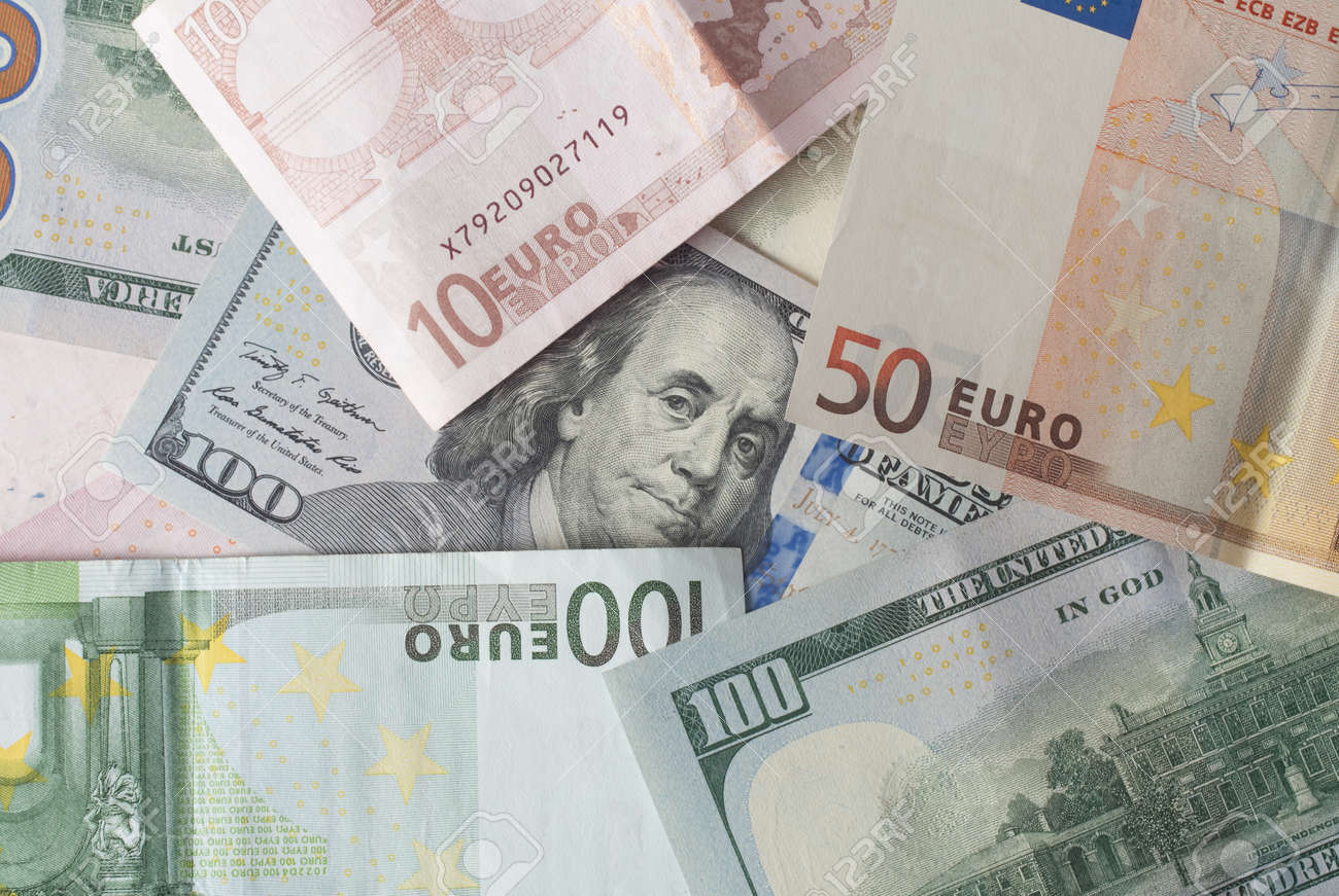 Stock P O Two Leading Hard Currencies Us Dollar And Euro