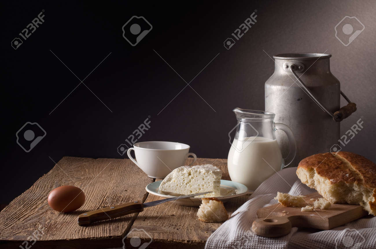 still life with dairy products - 52157392