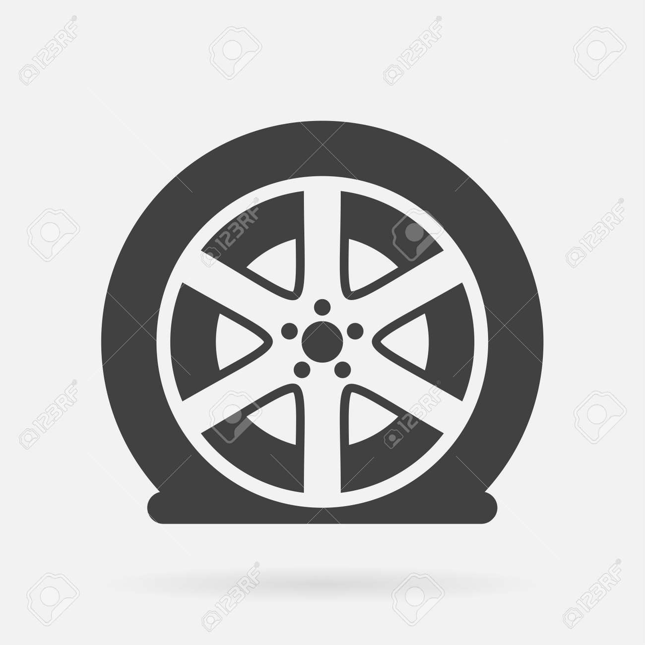 Flat tire icon - 54006167