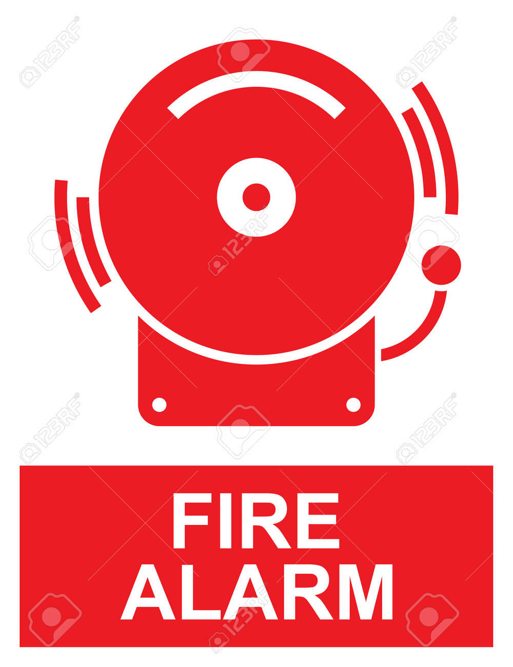 fire alarm sign royalty free cliparts vectors and stock rh 123rf com clipart pictures of fire alarm fire alarm clipart