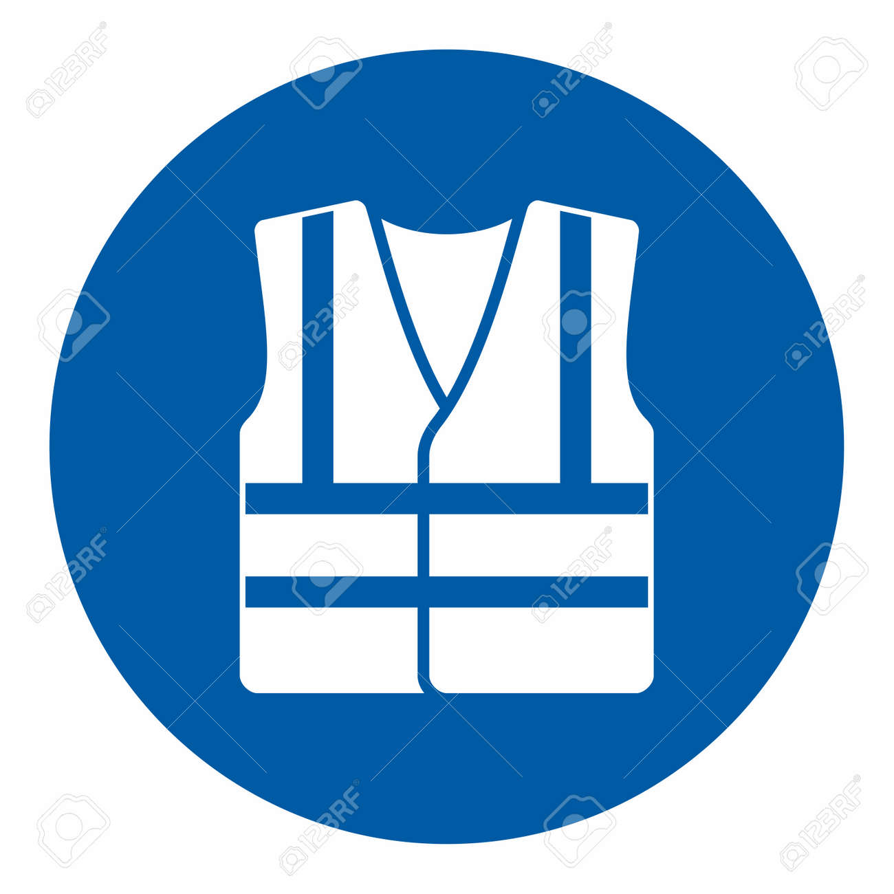 Mandatory action sign, Wear high visibility clothing - 71895978