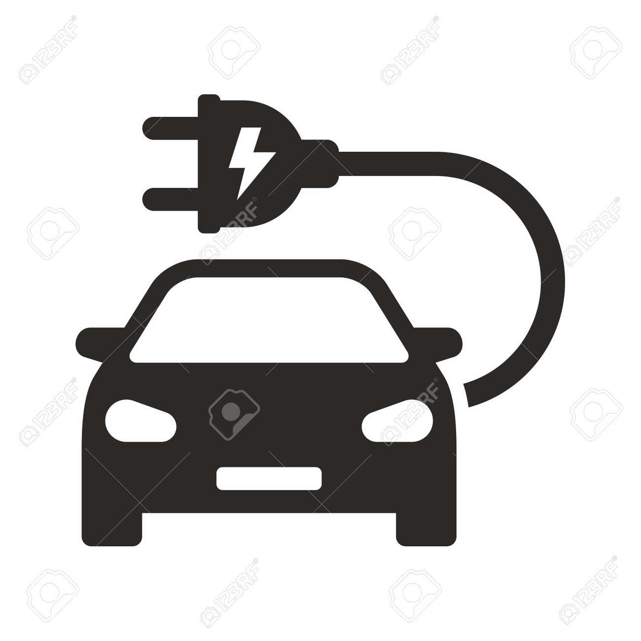 Electric Car Icon Vector Design Royalty Free Cliparts Vectors And