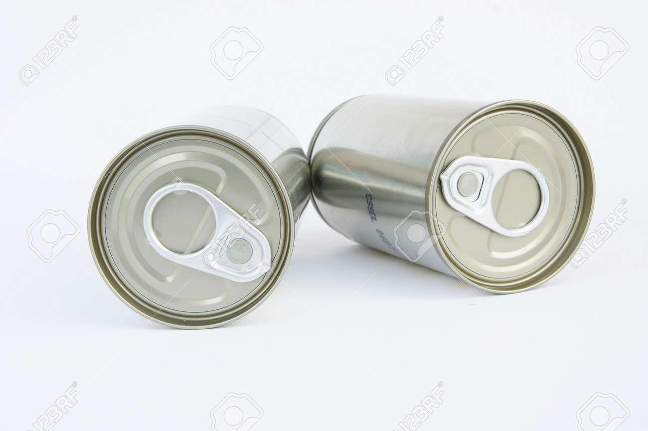 Pop-Top-Deckel, Dosen Auf Weißem Hintergrund, Verpackungsdosen, Zinn ...