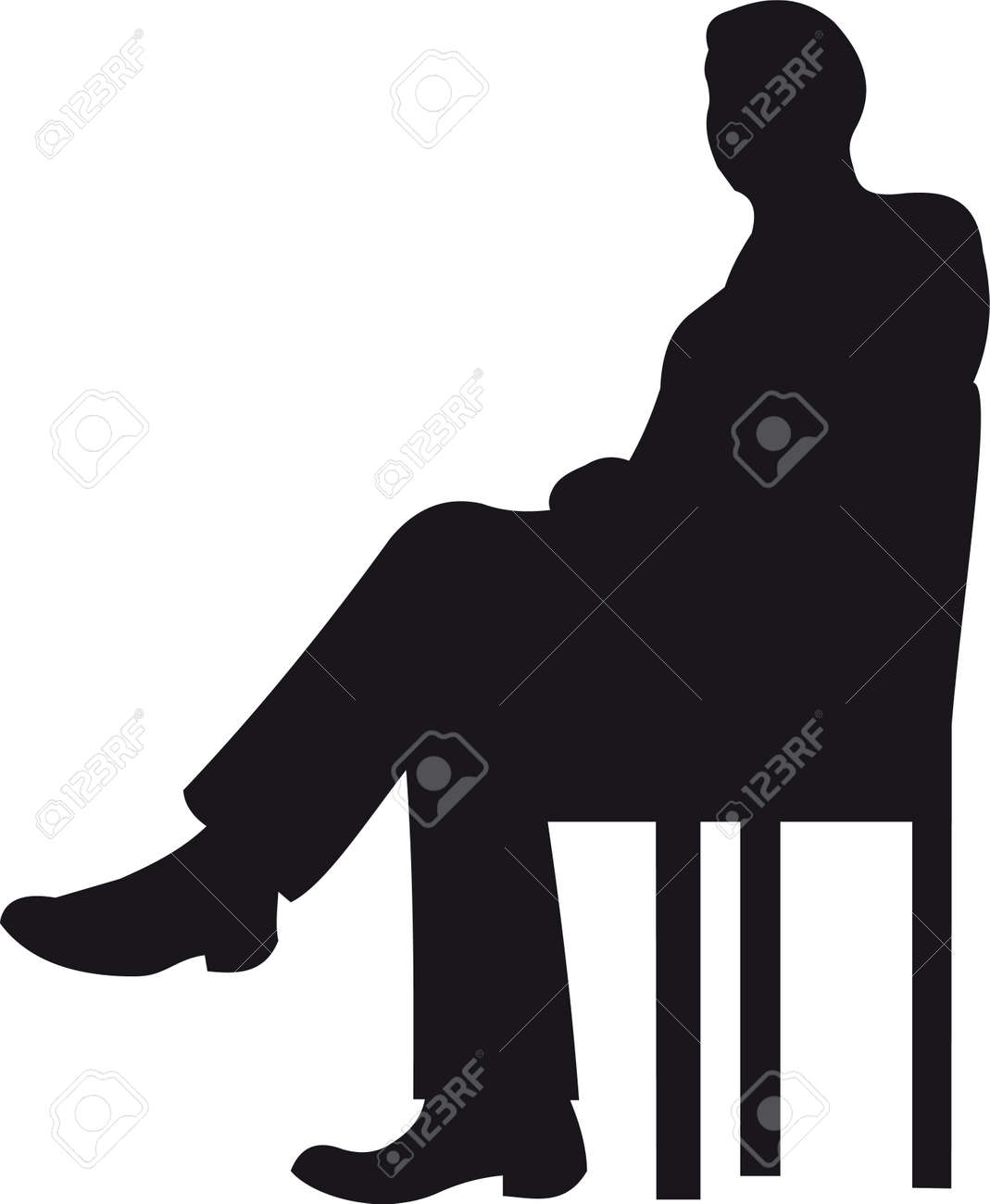 Businessman silhouette Stock Vector - 8711270